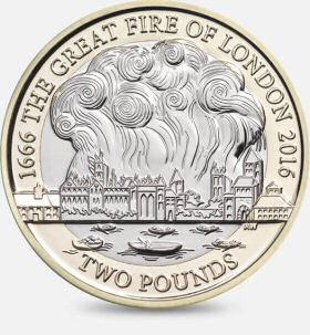 Great Fire of London £2 is worth £3.75