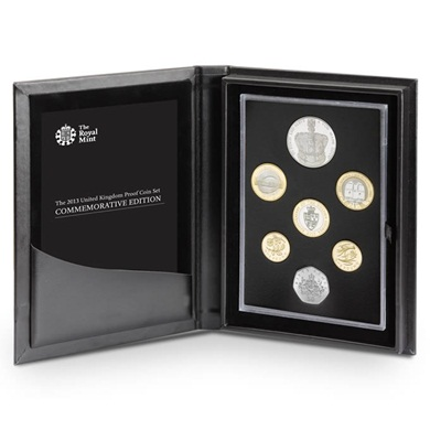 The 2013 United Kingdom Commemorative Proof Coin Set