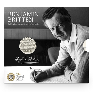 The 100th Anniversary of the Birth of Benjamin Britten 2013 UK 50p Coin