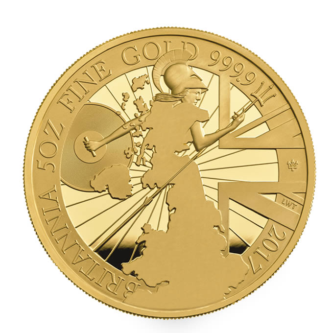 Britannia 2017 UK Five-Ounce Gold Proof Coin