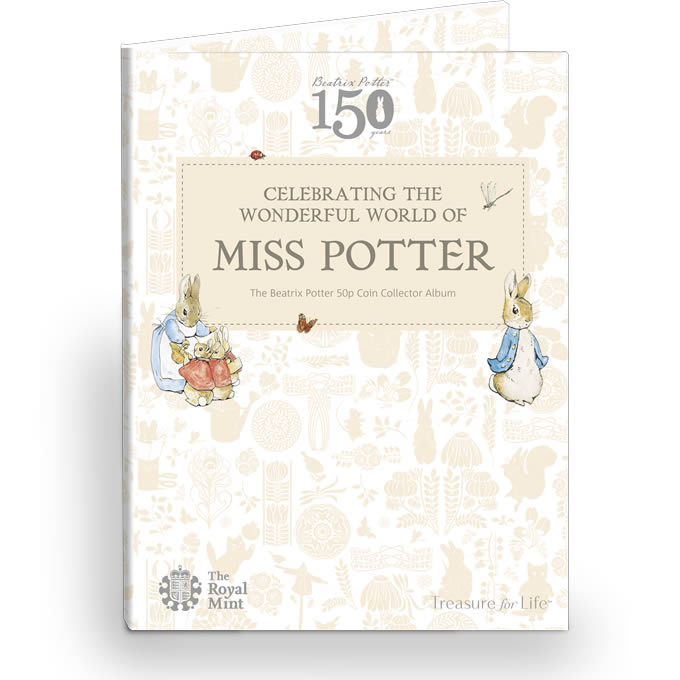 Beatrix Potter 2016 50p Coin Collector Album