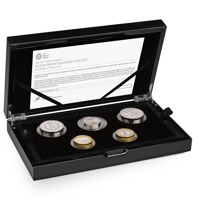 The 2017 United Kingdom Silver Proof Piedfort Coin Set