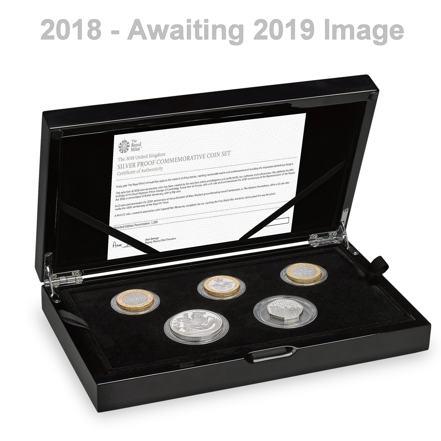 The 2019 UK Silver Proof Commemorative Coin Set
