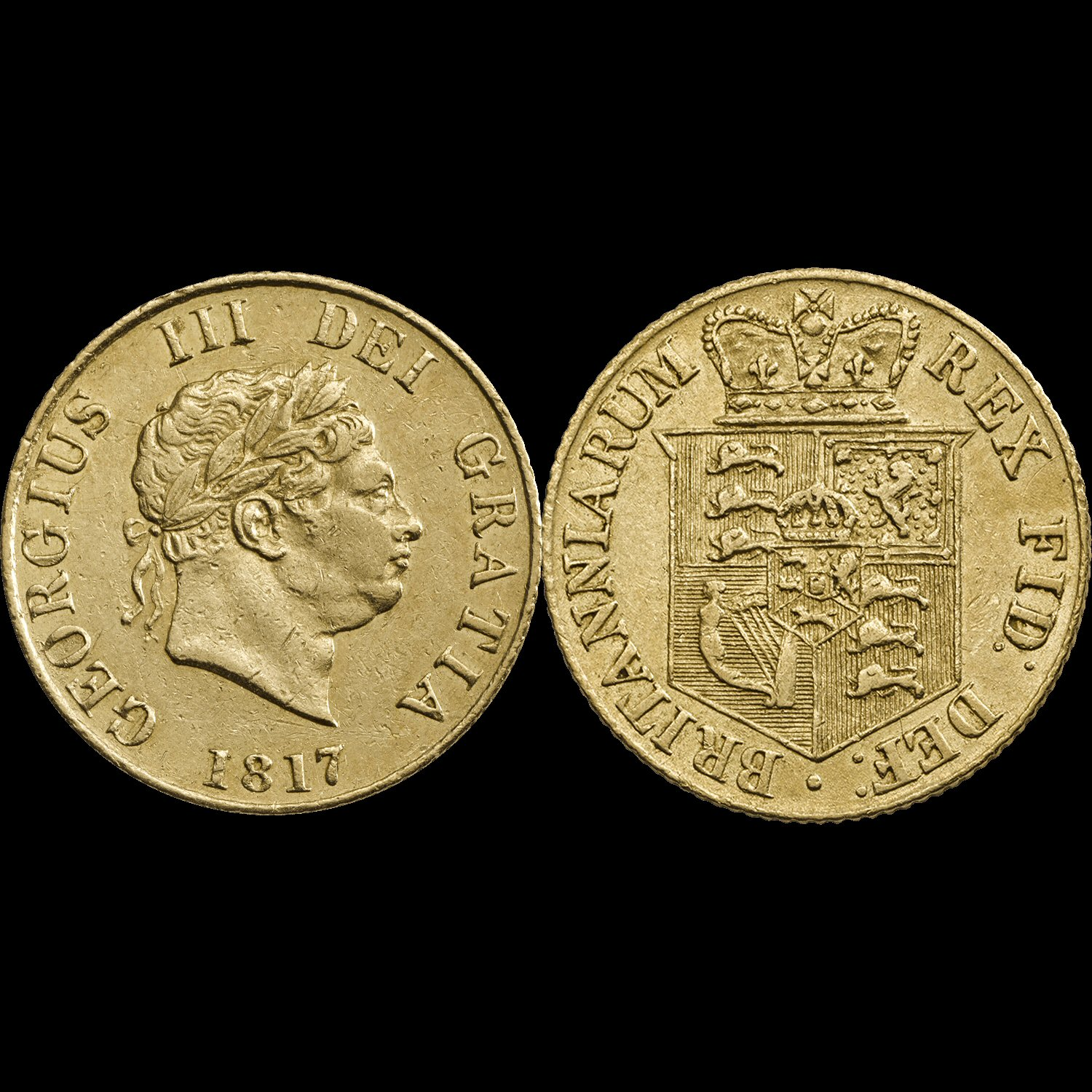 1817 George III Half-Sovereign Fine or Better