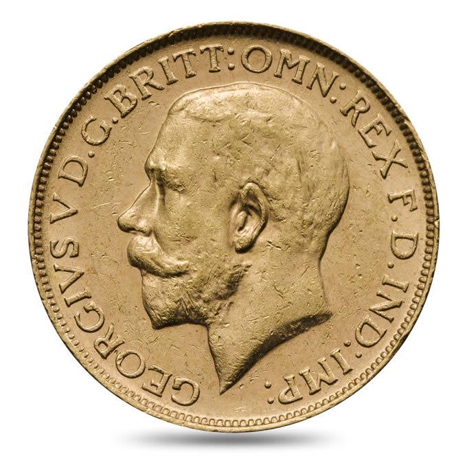 1918 George V Sovereign Extremely Fine
