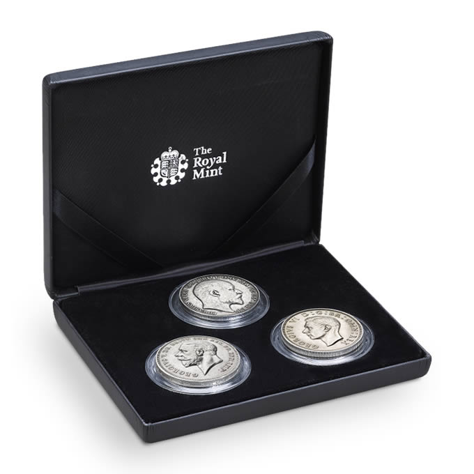 The 20th Century Kings Silver Three Coin Set