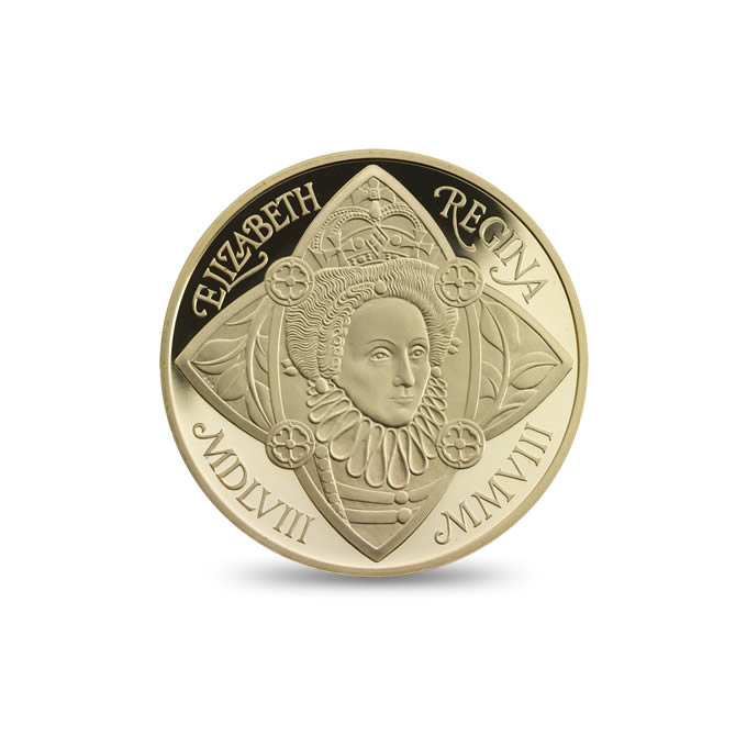 Accession of Queen Elizabeth I 2008 £5 Gold Proof Coin