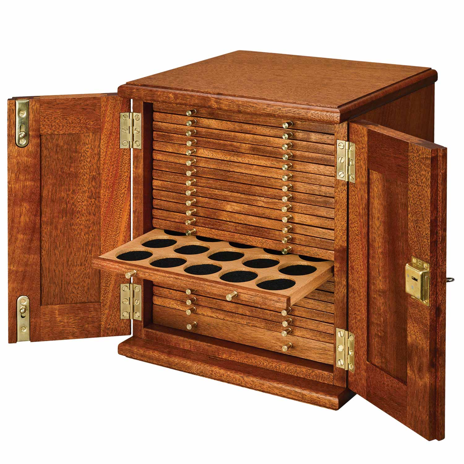 Coin Cabinet 21 Trays with Medium Holes