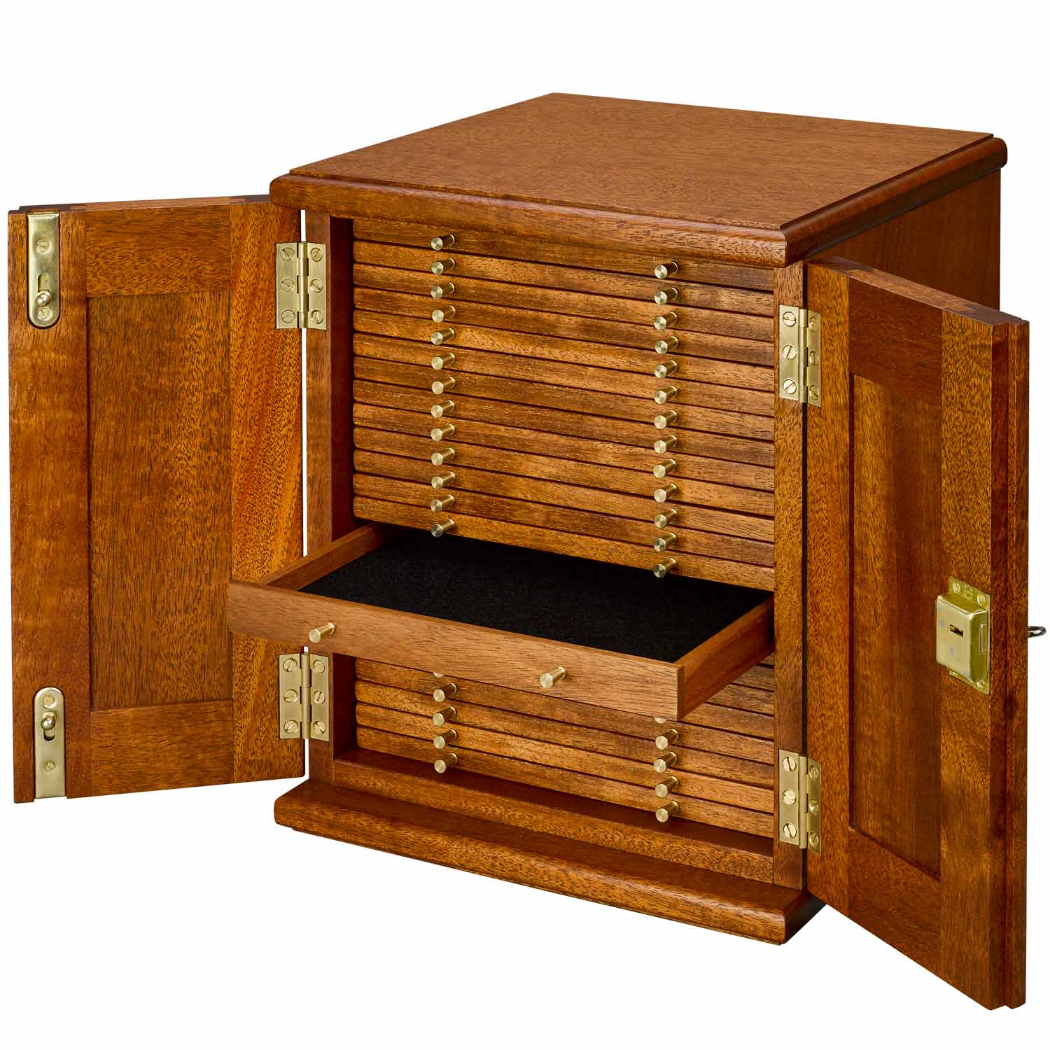 Coin Cabinet 21 Trays with Mixed Holes