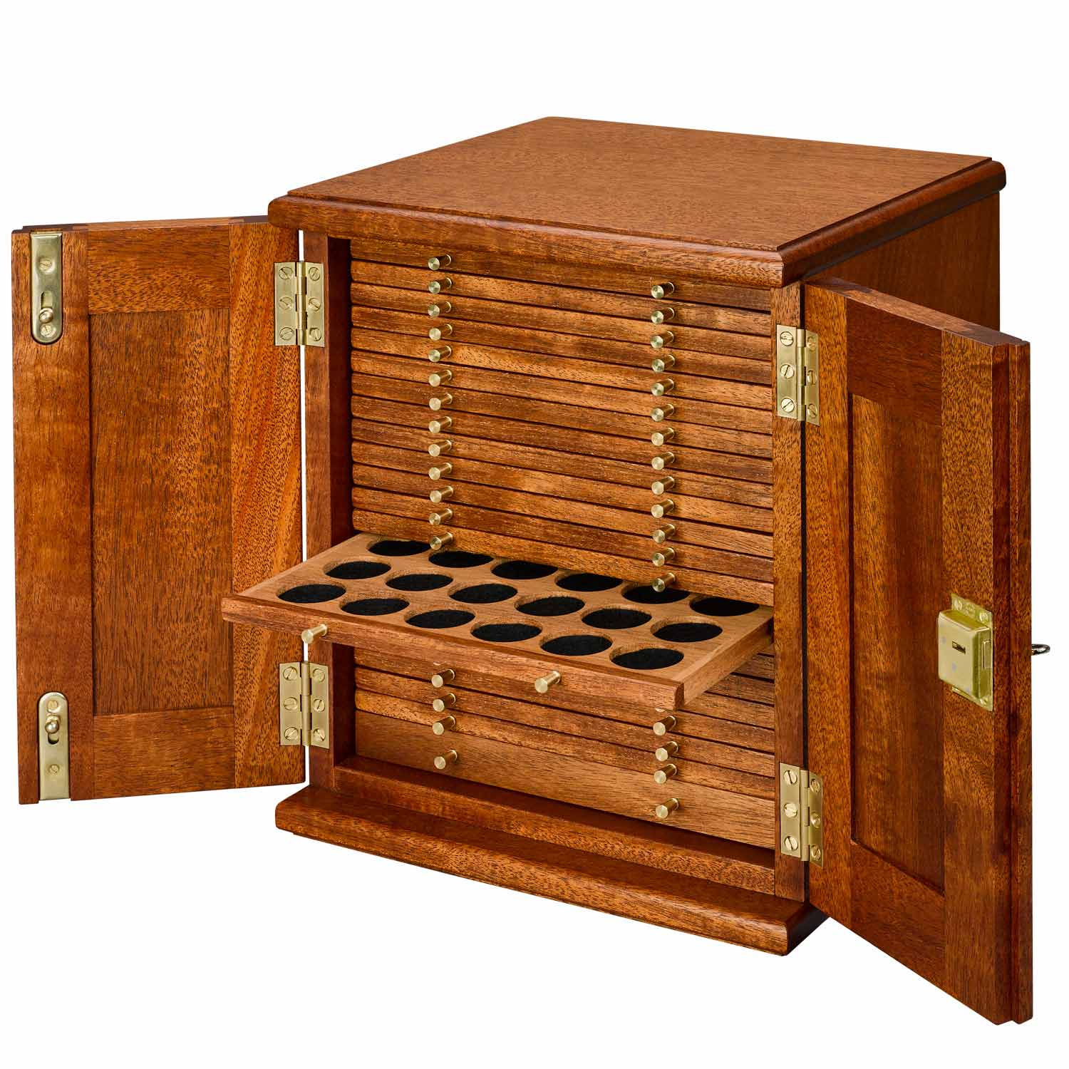 Coin Cabinet 21 Trays with Small Holes
