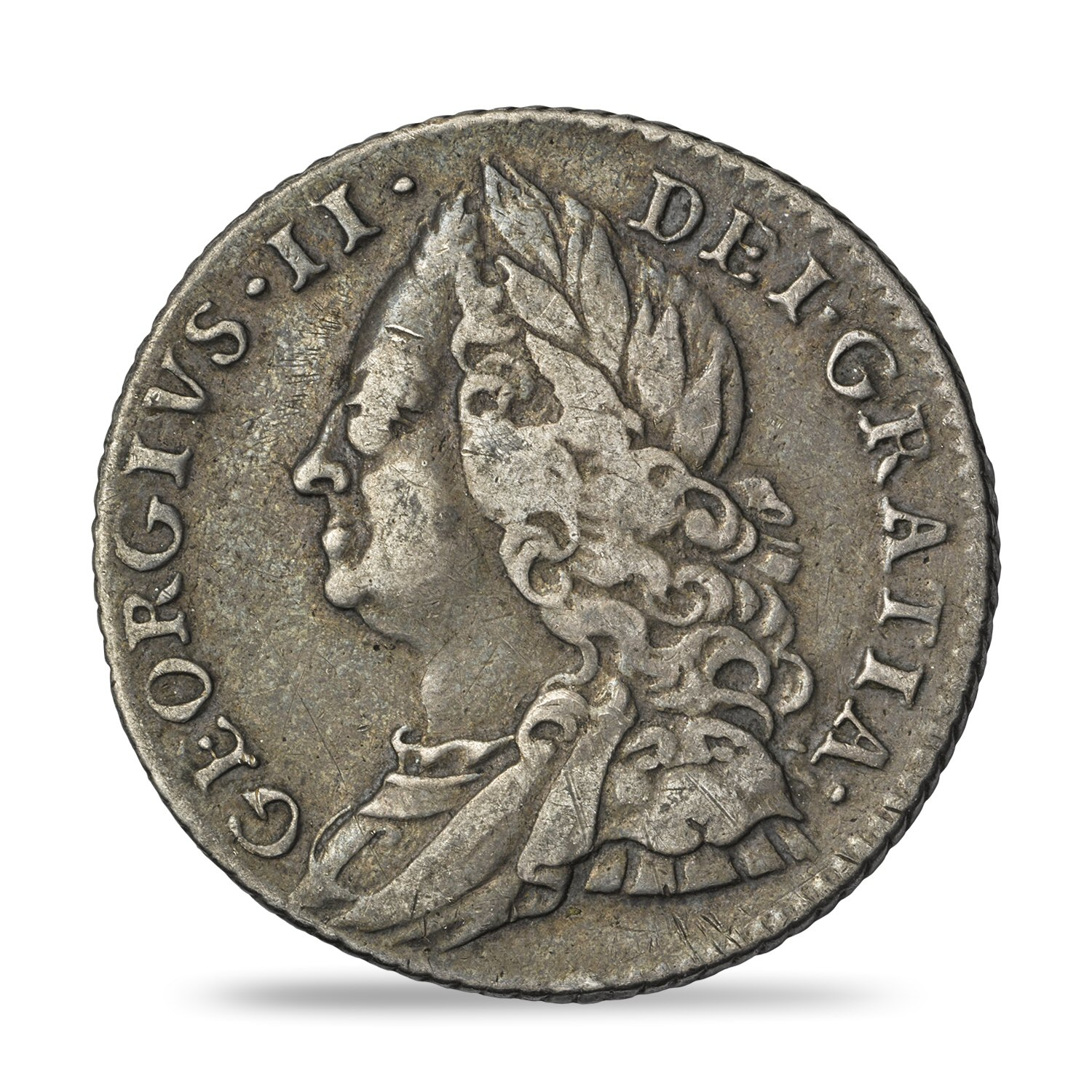 George II Sixpence Fine or Better