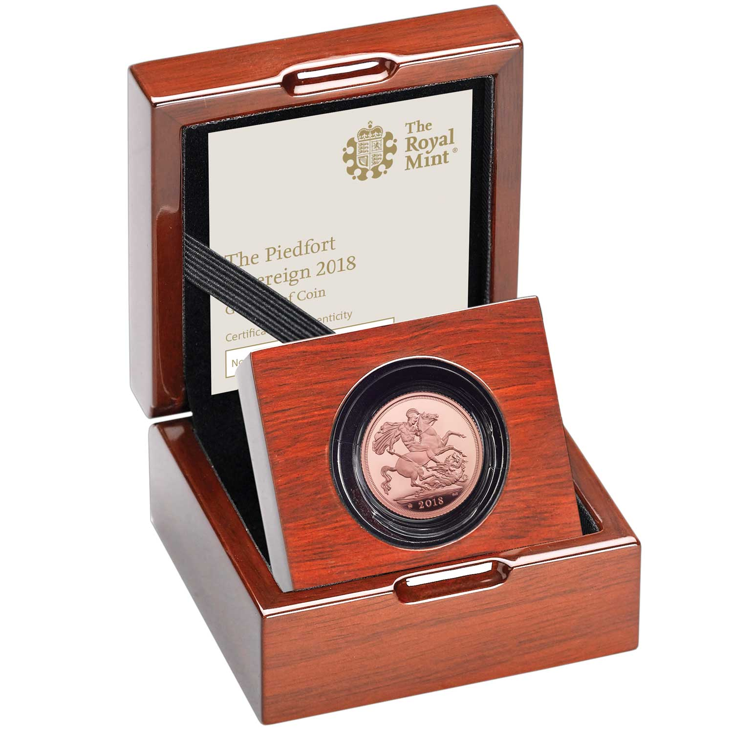 The Piedfort Sovereign 2018 Gold Proof Coin