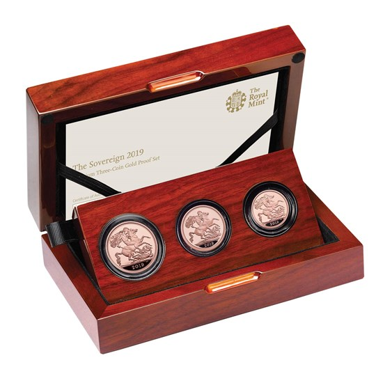 The Sovereign 2019 Premium Three-Coin Gold Proof Set