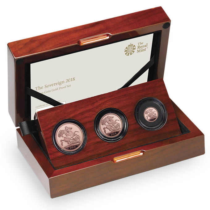 The Sovereign 2018 Three-Coin Gold Proof Set