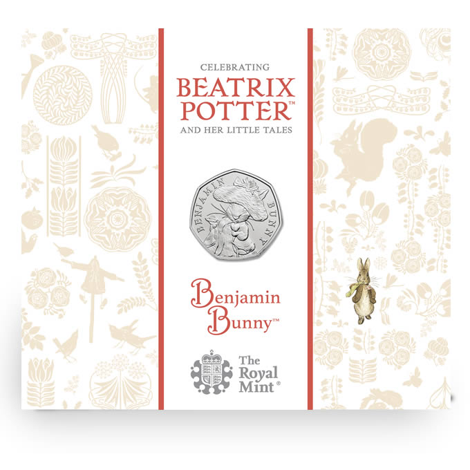 Benjamin Bunny 2017 UK 50p Brilliant Uncirculated Coin
