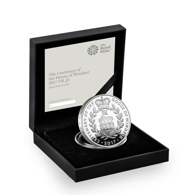 House of Windsor Centenary 2017 UK £5 Silver Proof Coin