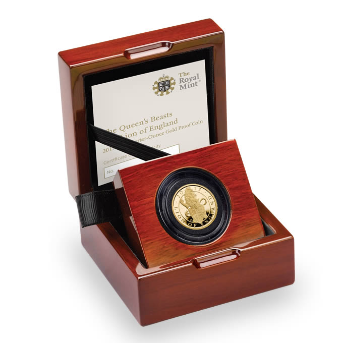 The Lion of England 2017 UK Quarter-Ounce Gold Proof Coin