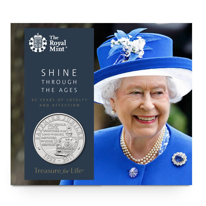 Sapphire Jubilee 2017 UK £5 Brilliant Uncirculated Coin