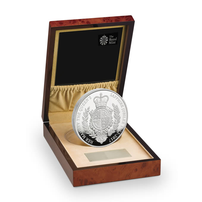 The Queen's Sapphire Jubilee 2017 UK Silver Proof Kilo Coin
