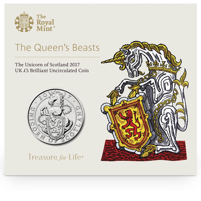 The Unicorn of Scotland 2017 UK £5 Brilliant Uncirculated Coin