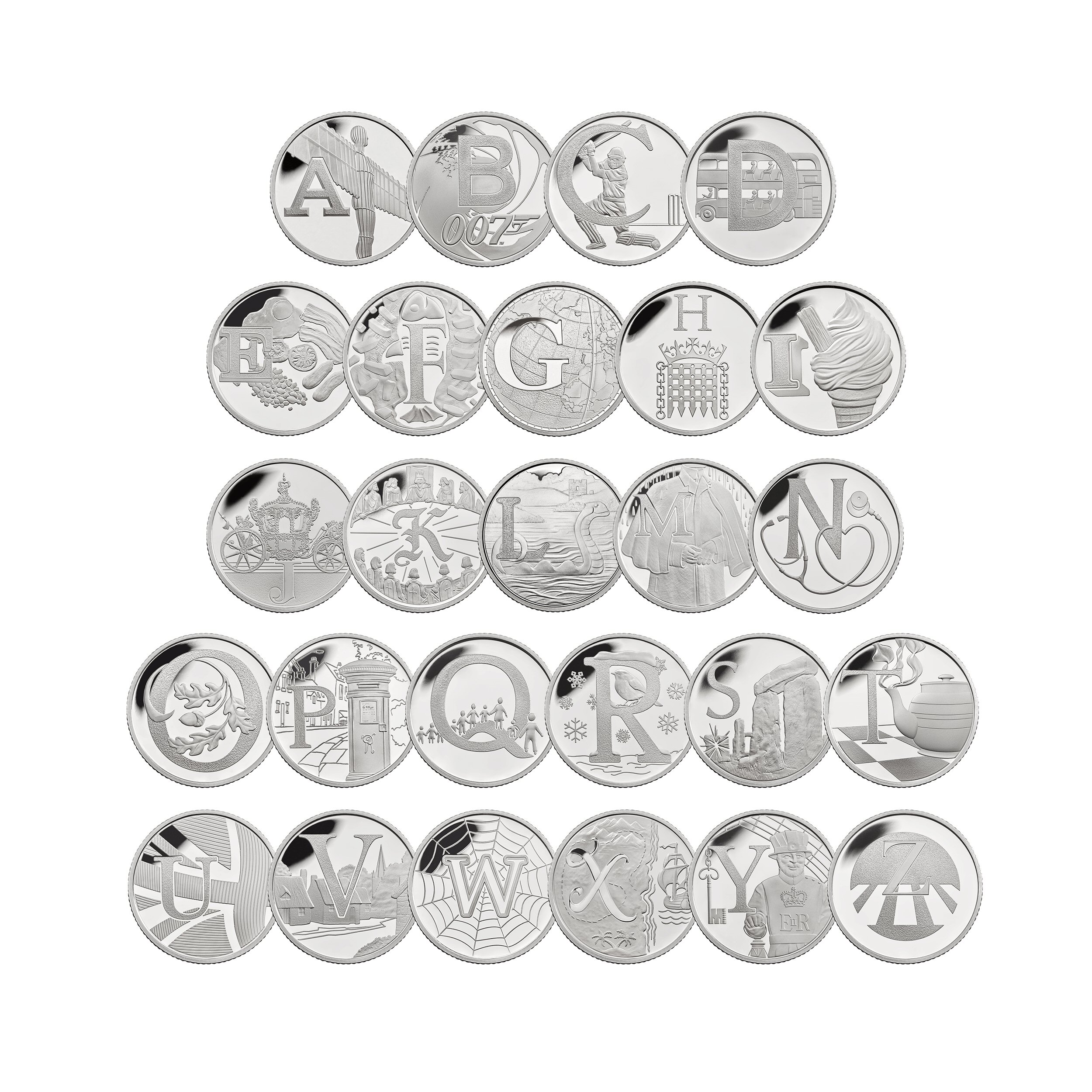 The Complete A to Z Collection 2018 UK 10p Silver Proof Coins