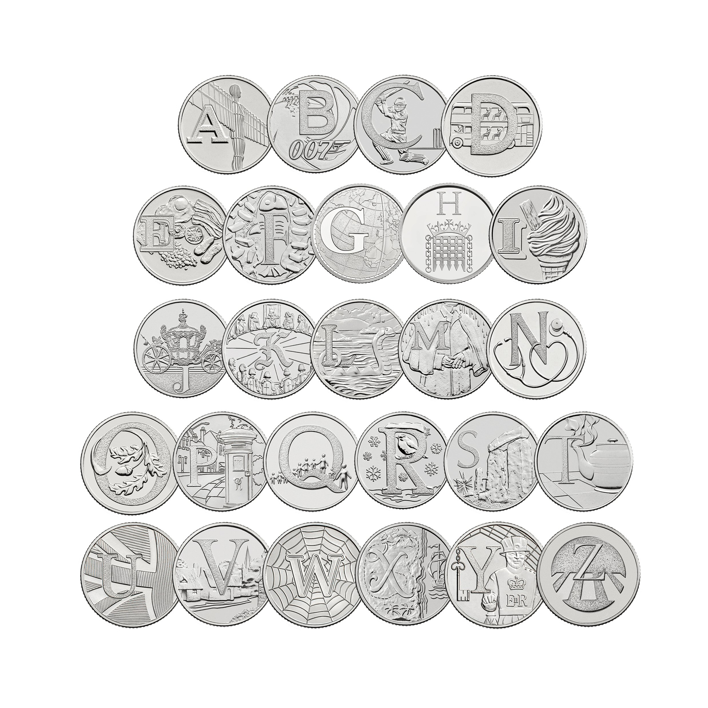The Complete A to Z Collection 2018 UK 10p Early Strike Uncirculated Coins