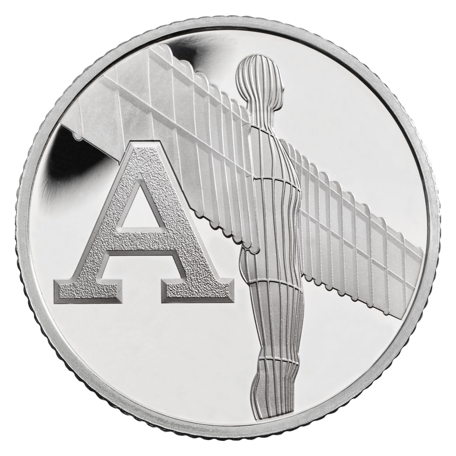 A - Angel of the North 2018 UK 10p Silver Proof Coin