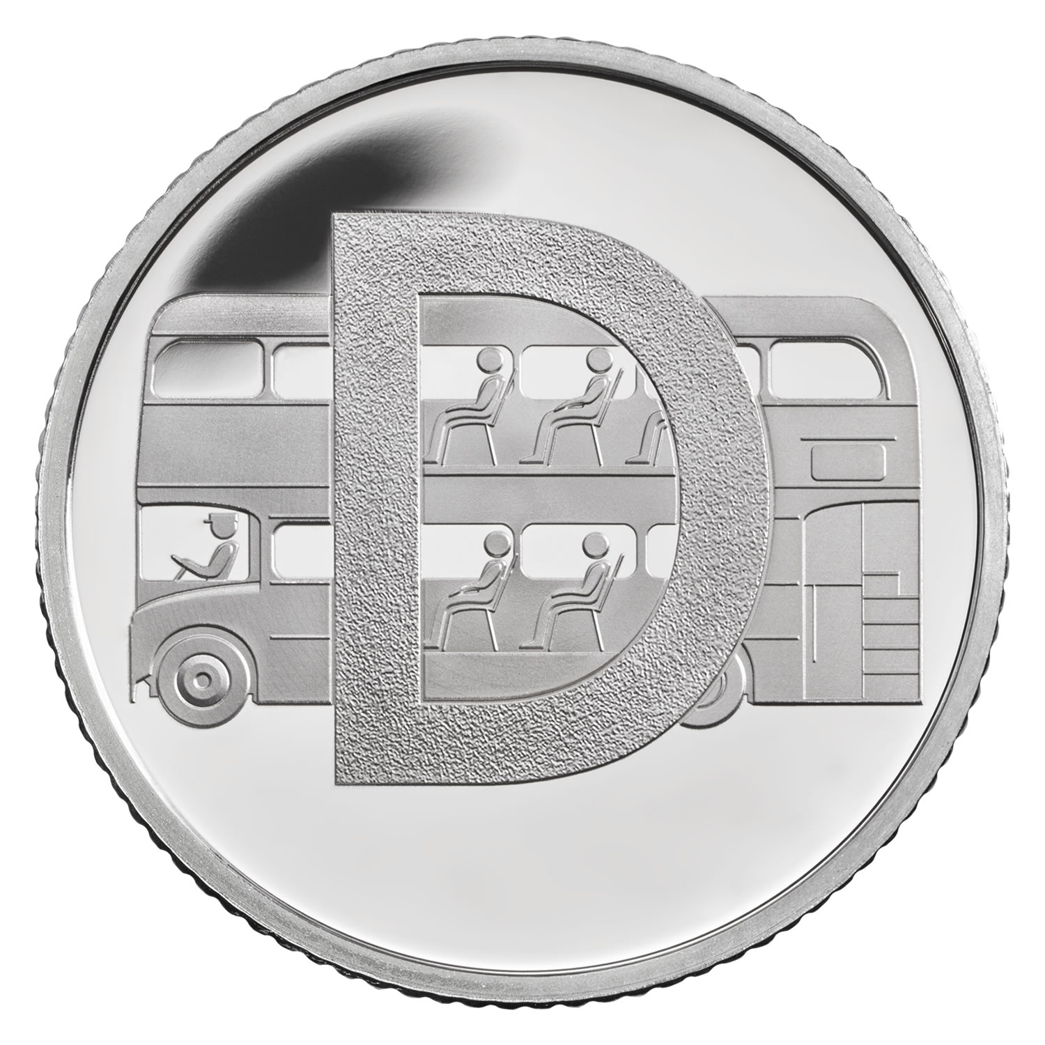 D - Double Decker Bus 2018 UK 10p Silver Proof Coin