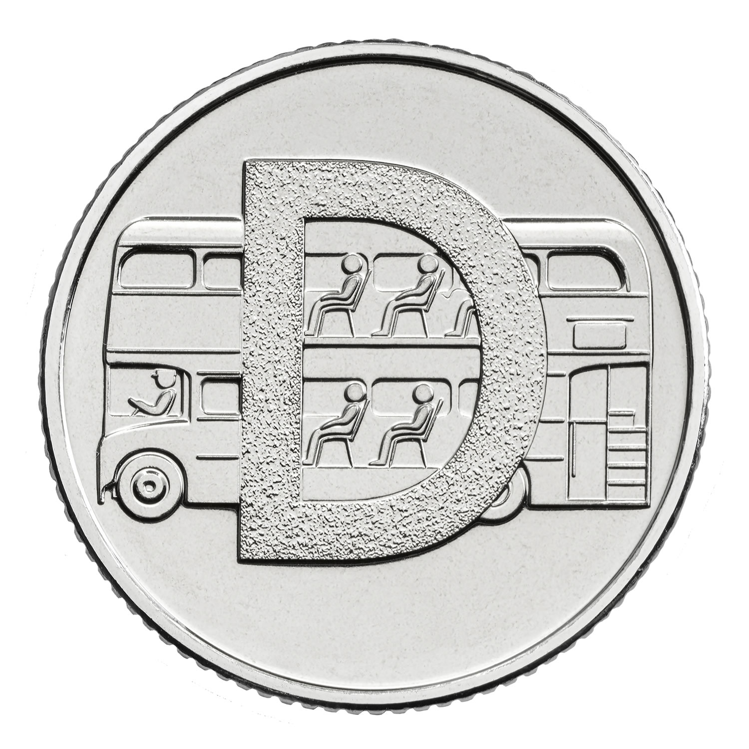 D - Double Decker Bus 2018 UK 10p Early Strike Uncirculated Coin