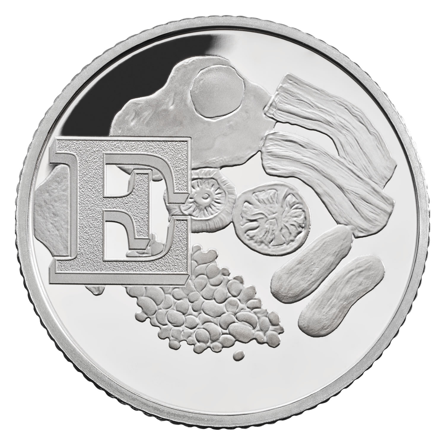E - English Breakfast 2018 UK 10p Silver Proof Coin