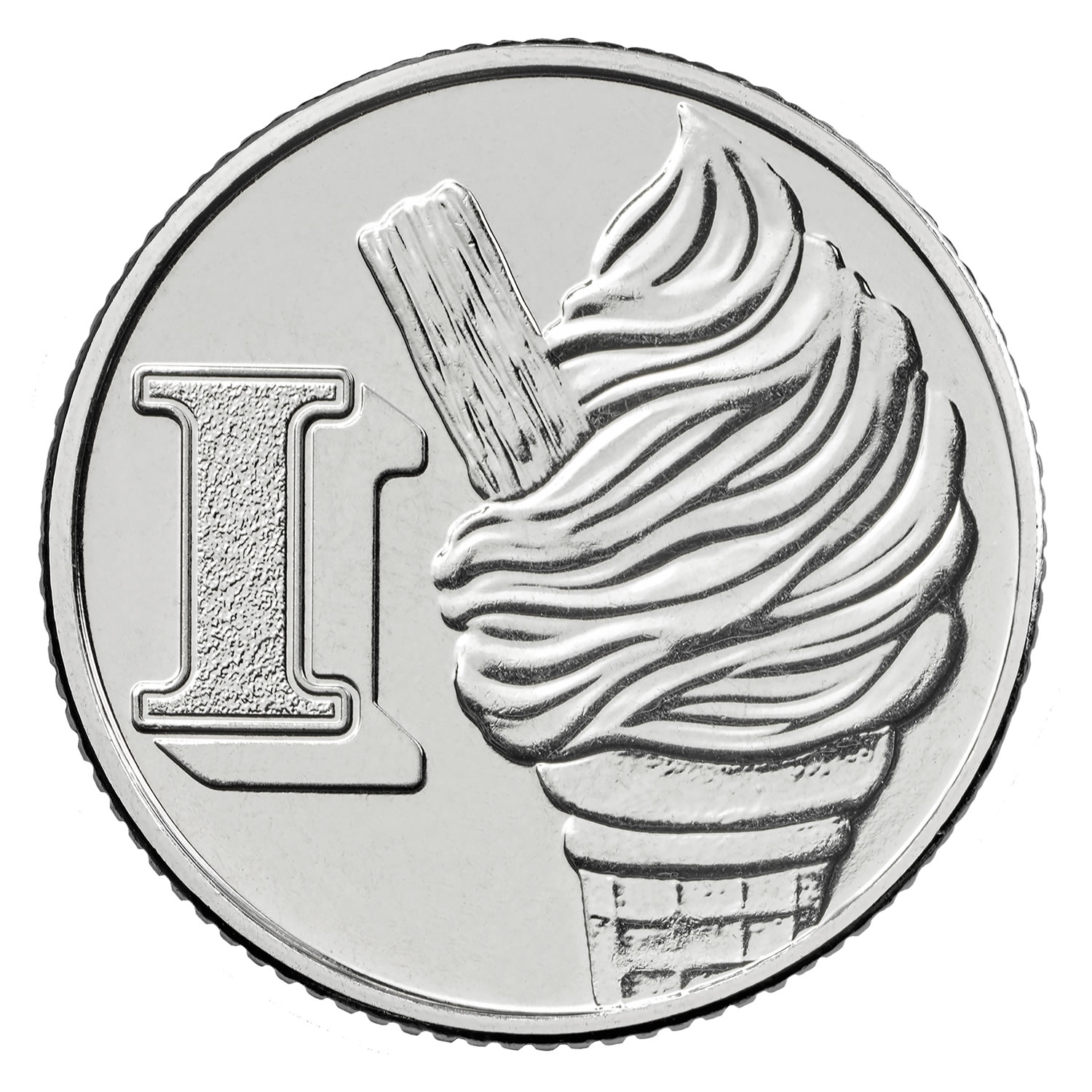 I - Ice-Cream Cone 2018 UK 10p Early Strike Uncirculated Coin