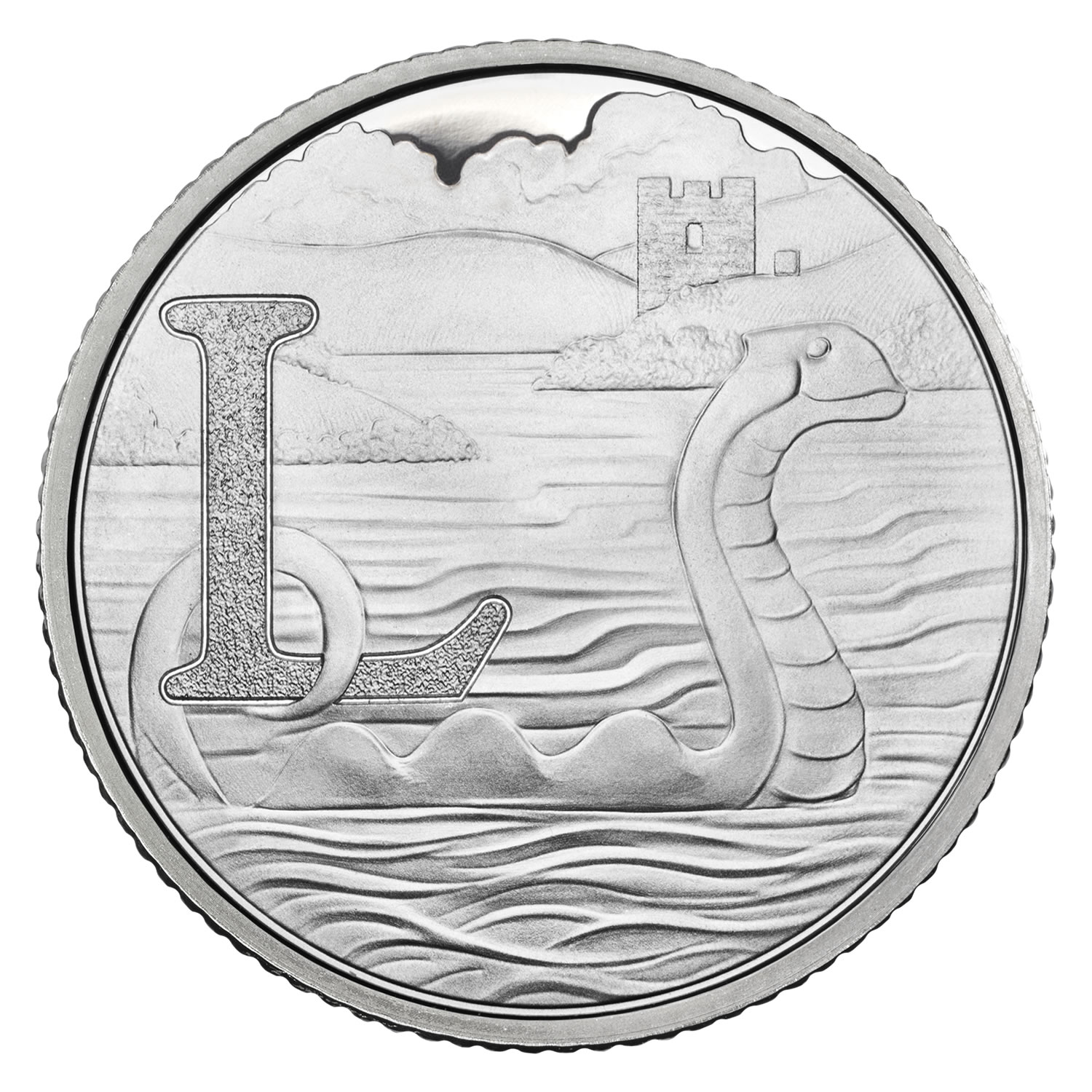 L - Loch Ness 2018 UK 10p Silver Proof Coin