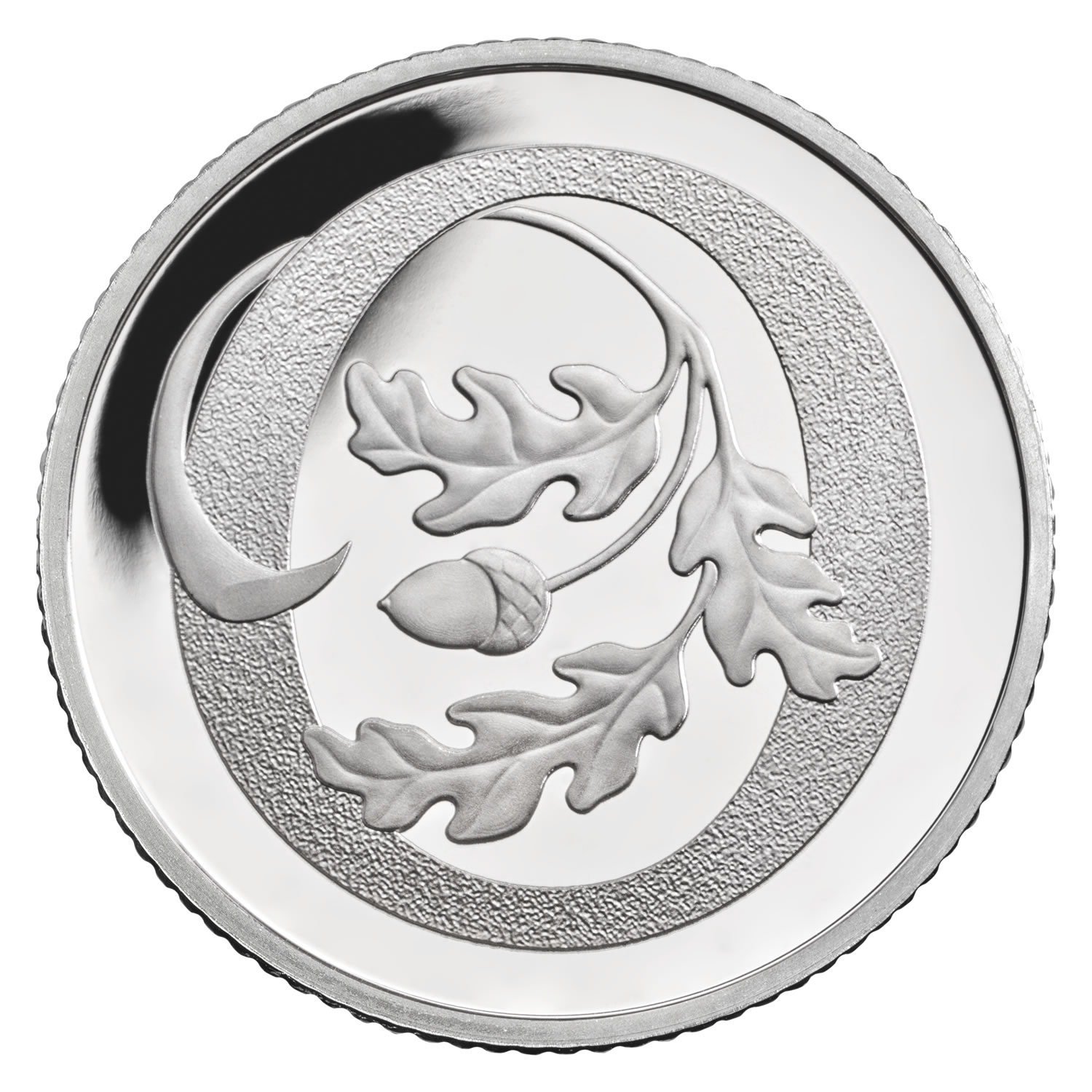 O - Oak Tree 2018 UK 10p Silver Proof Coin