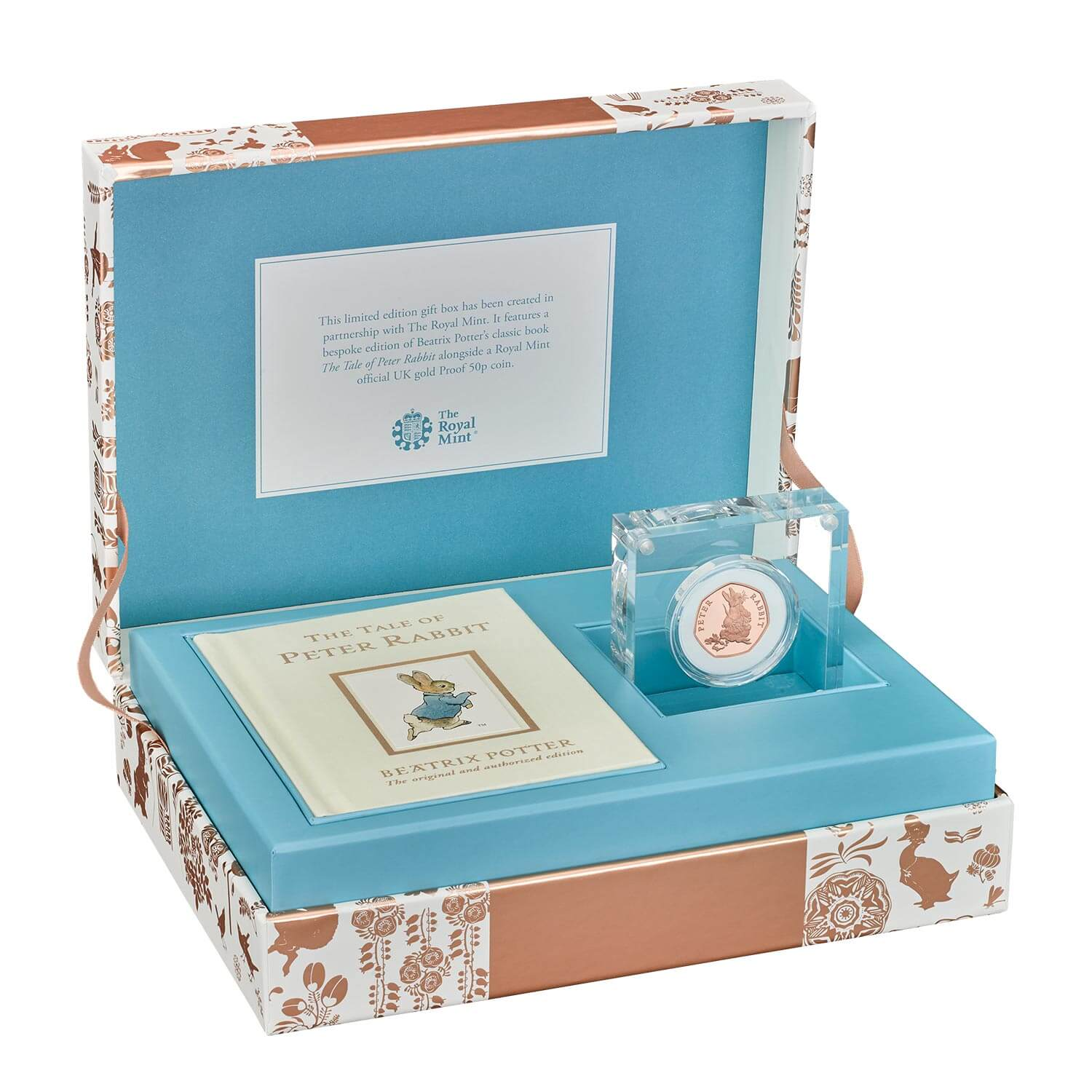 Peter Rabbit 2018 UK 50p Gold Proof Coin & Book Gift Set