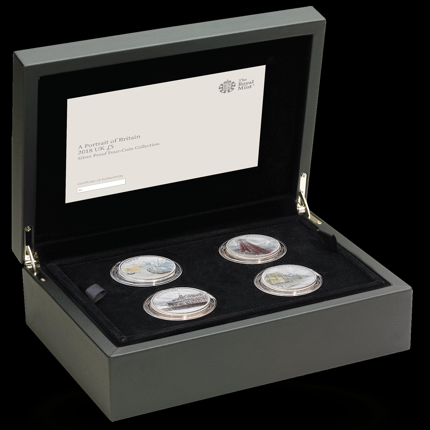 Portrait of Britain 2018 UK £5 Silver Proof Four-Coin Collection