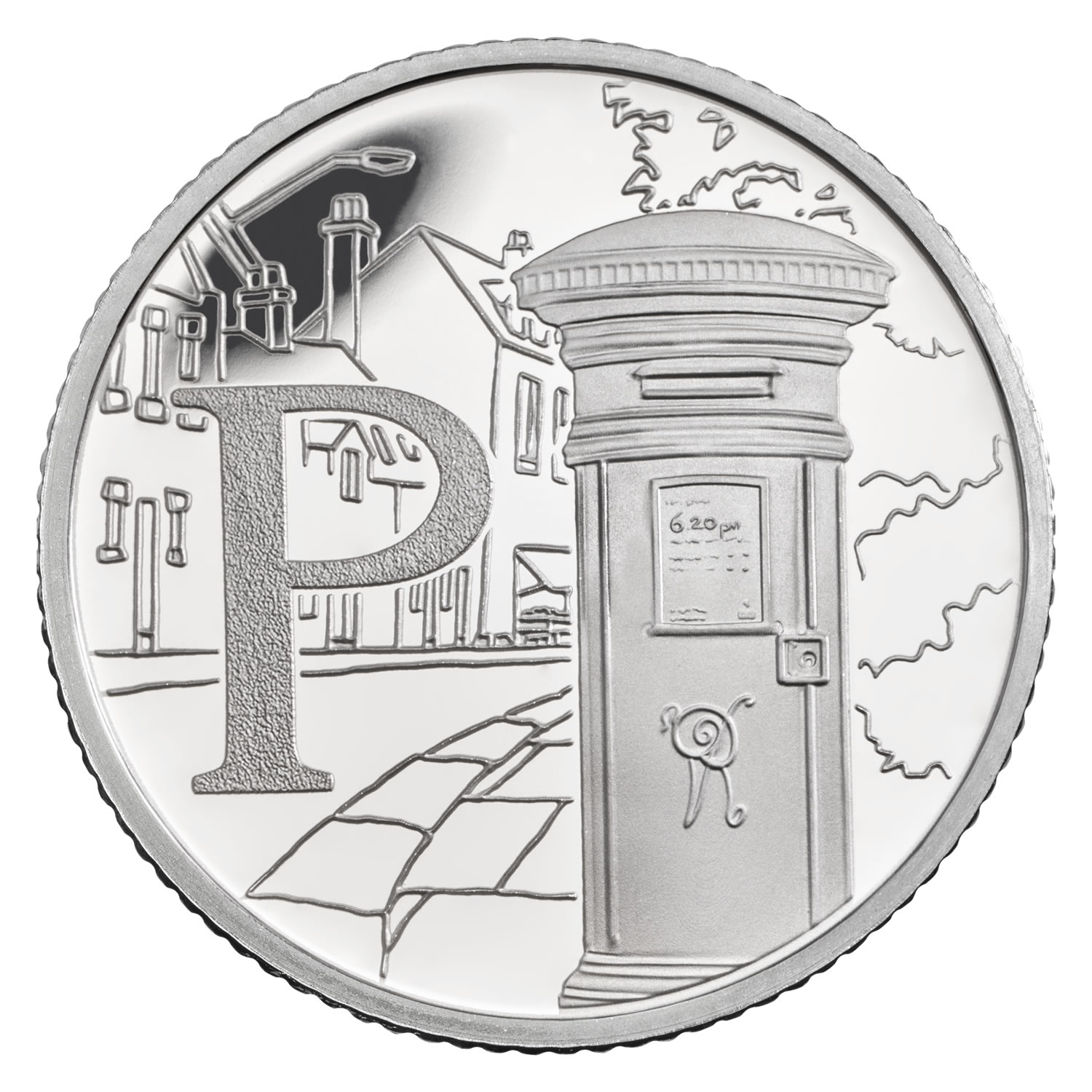 P - Postbox 2018 UK 10p Silver Proof Coin