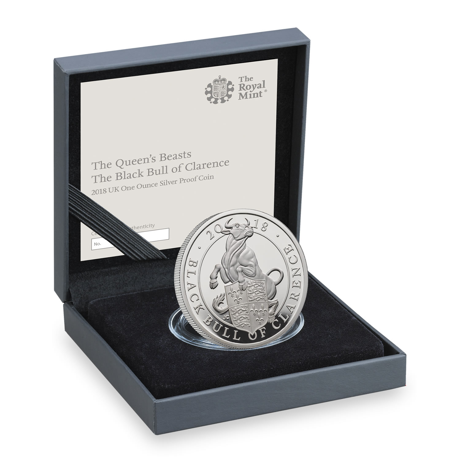 The Black Bull of Clarence 2018 UK One-Ounce Silver Proof Coin