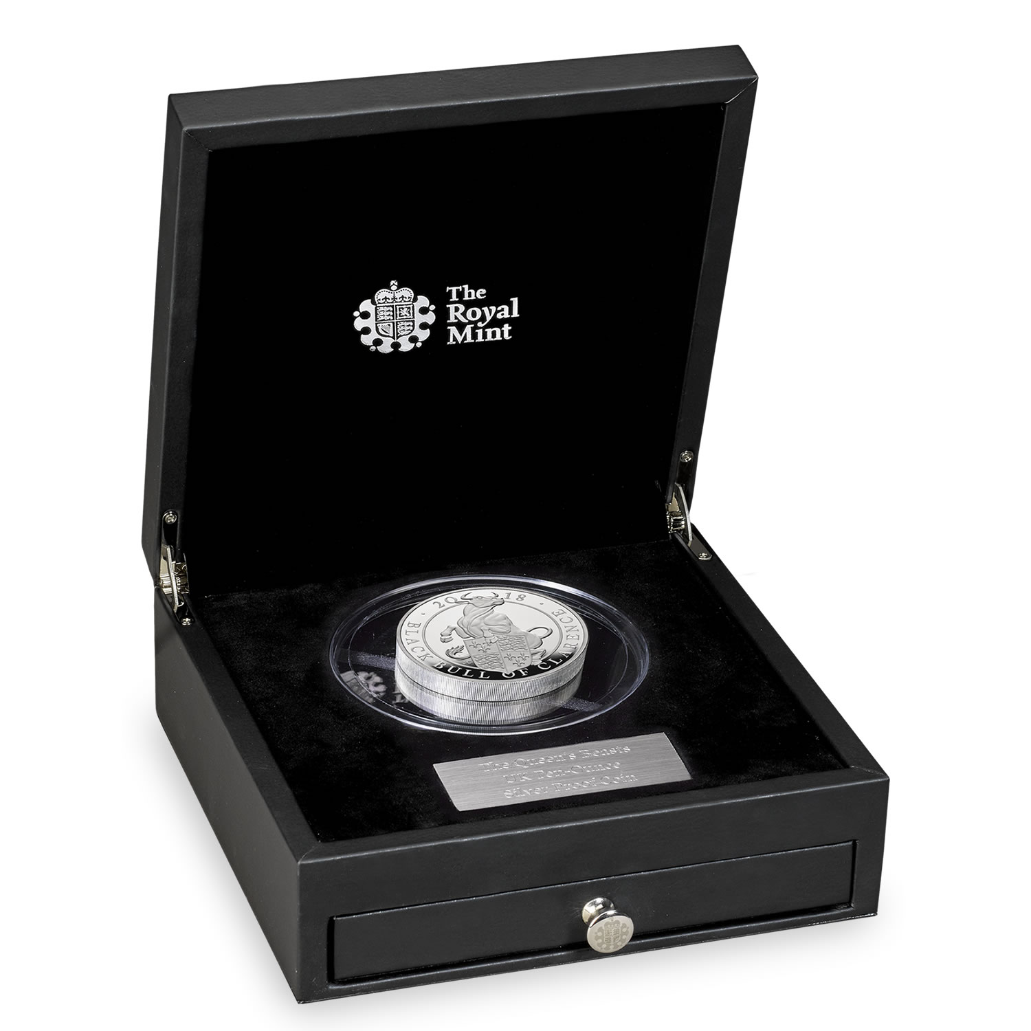 The Black Bull of Clarence 2018 UK Ten-Ounce Silver Proof Coin