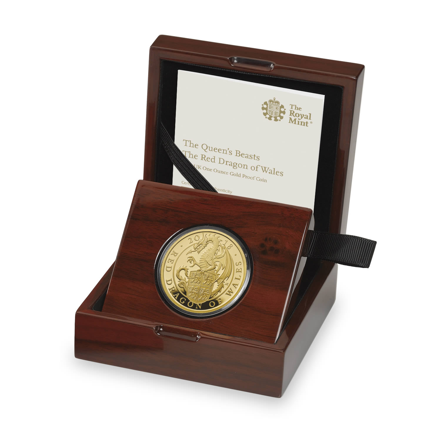 The Red Dragon of Wales 2018 UK One Ounce Gold Proof Coin