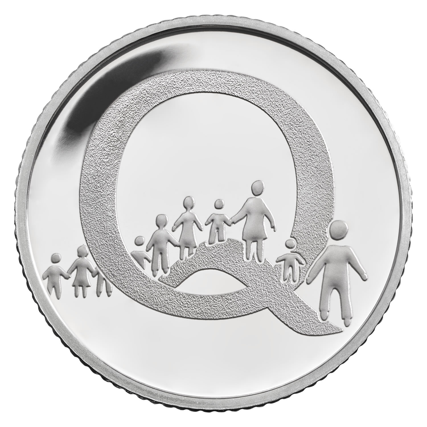 Q - Queuing 2018 UK 10p Silver Proof Coin