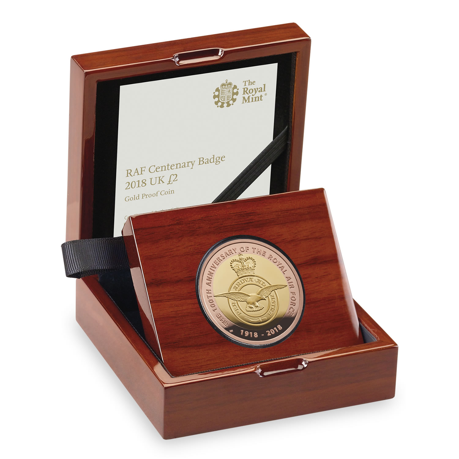RAF Centenary Badge 2018 UK £2 Gold Proof Coin