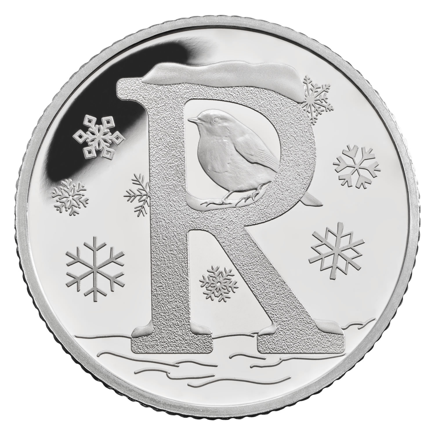 R - Robin 2018 UK 10p Silver Proof Coin