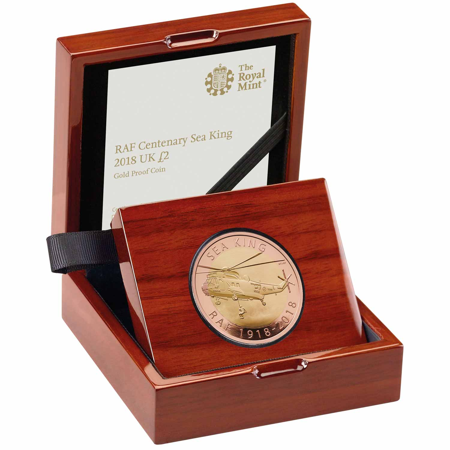 RAF Centenary Sea King 2018 UK £2 Gold Proof Coin
