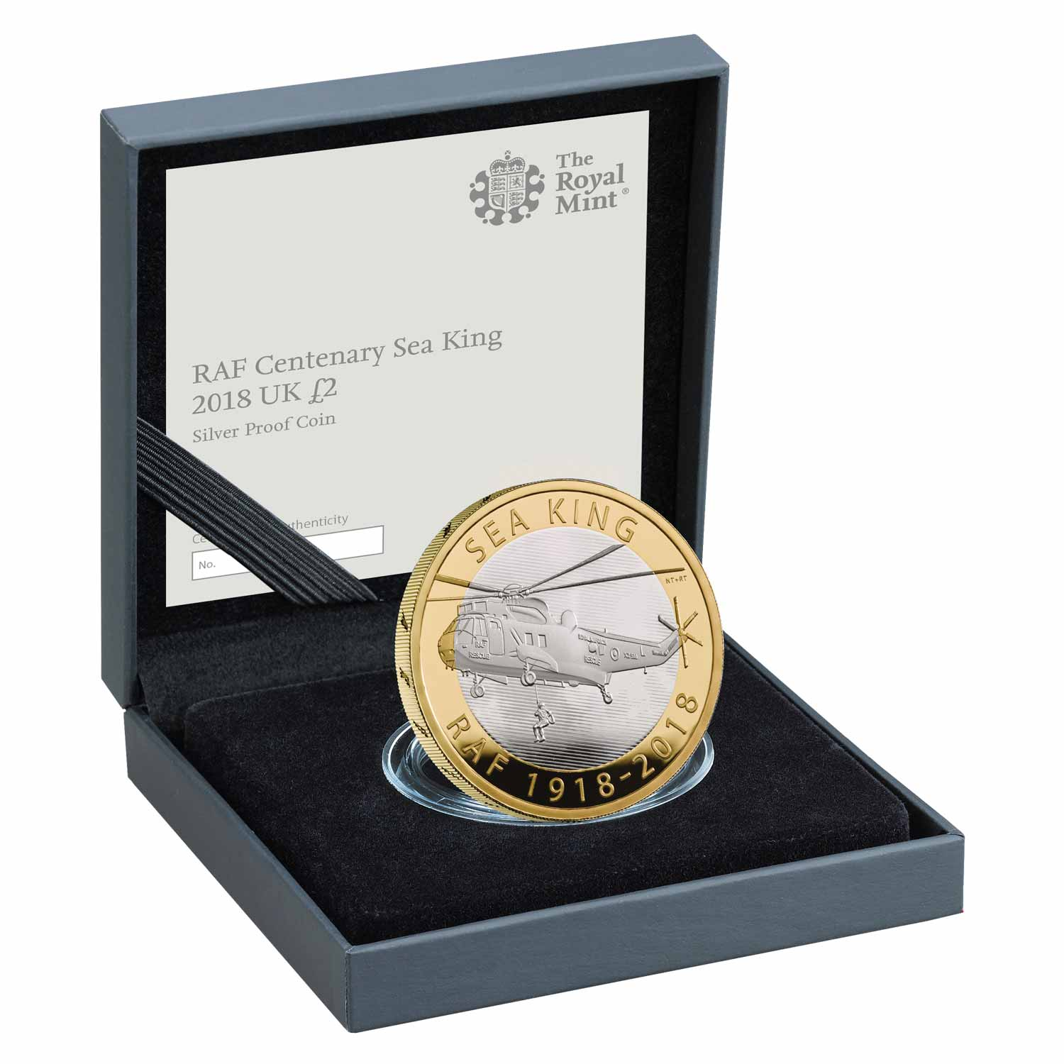 RAF Centenary Sea King 2018 UK £2 Silver Proof Coin