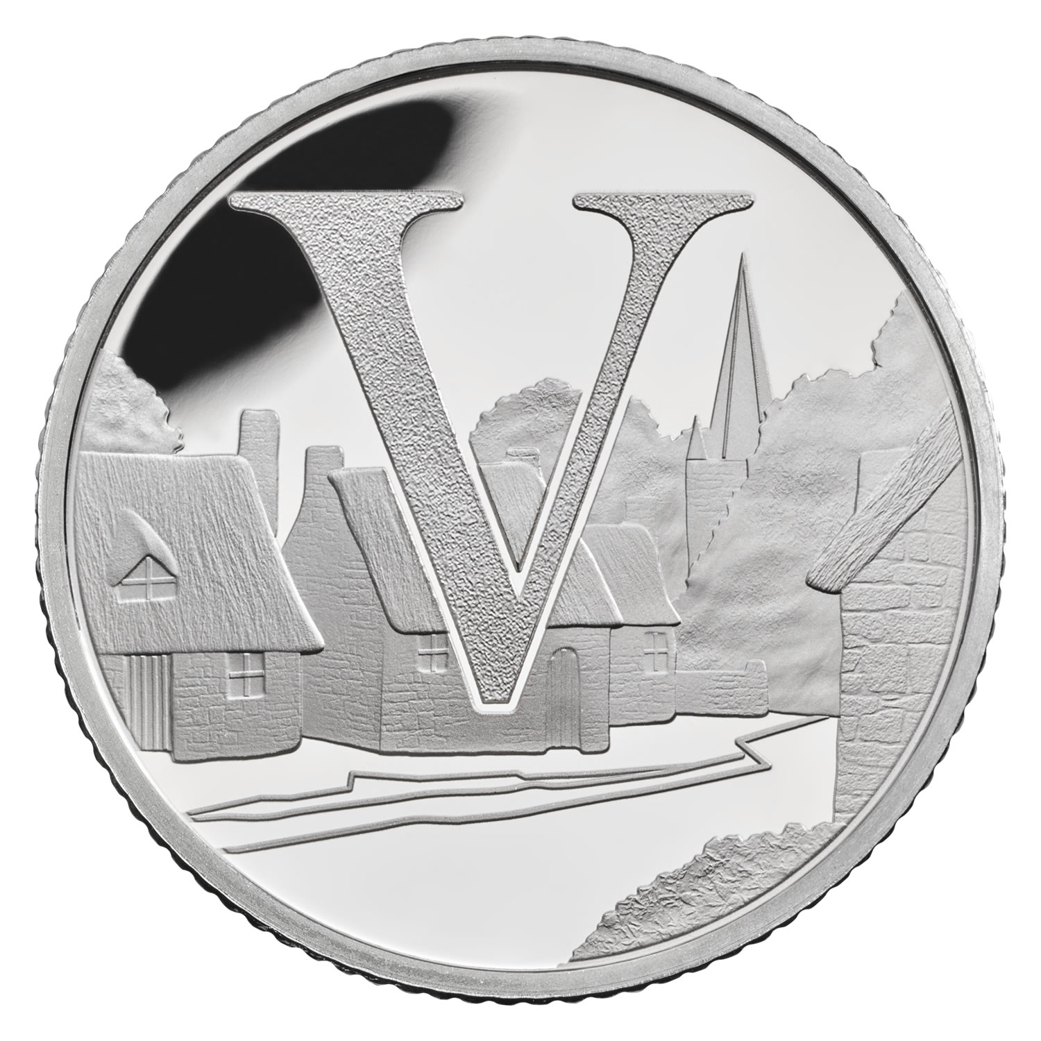 V - Villages 2018 UK 10p Silver Proof Coin