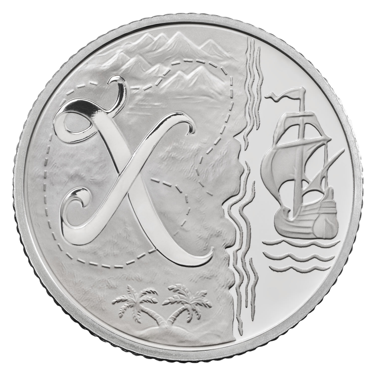 X - X marks the spot 2018 UK 10p Silver Proof Coin