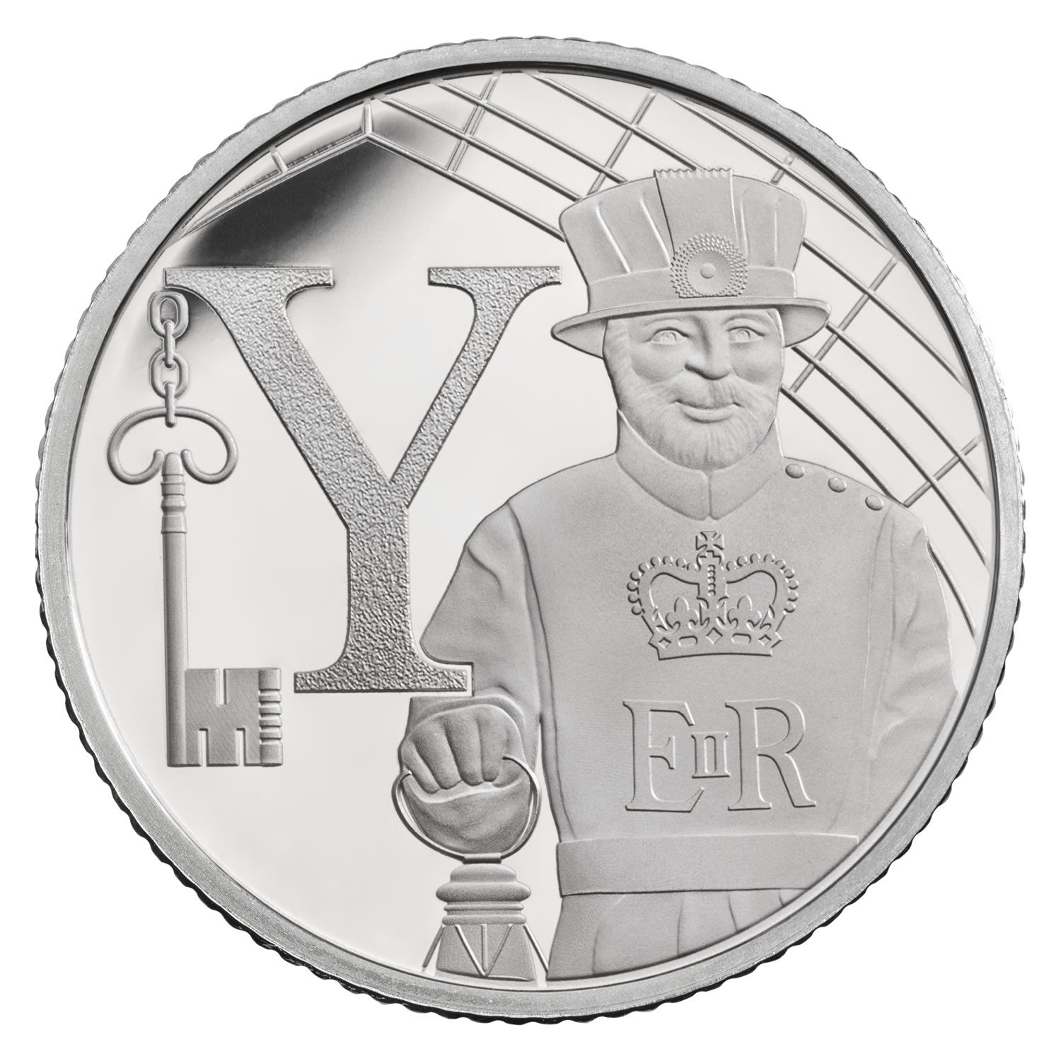 Y - Yeoman Warder 2018 UK 10p Silver Proof Coin
