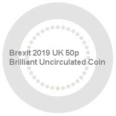 Brexit 2019 UK 50p Brilliant Uncirculated Coin
