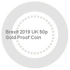 Brexit 2019 UK 50p Gold Proof Coin