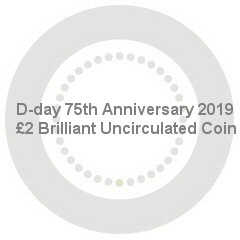 D-day 75th Anniversary 2019 UK £2 Brilliant Uncirculated Coin